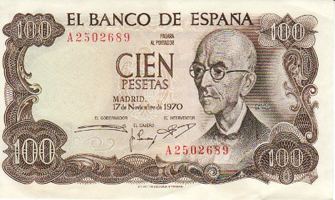 Manuel de Falla - Spanish bank note