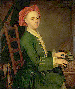 G. F. Handel at the keyboard