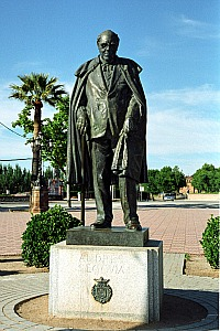 Statue of Andres Segovia in Linares, Spain