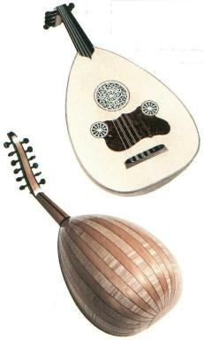 The Lyra (left) and the Oud (right)