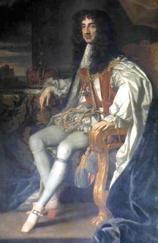 The English monarch, King Charles II