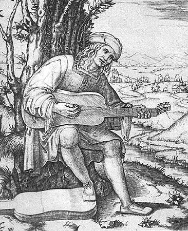 Minstrel playing vihuela